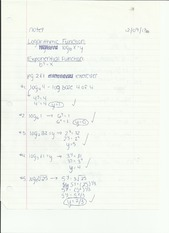 Logarithms/Exponential Functions