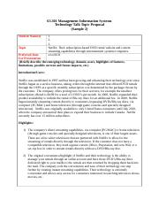 Technology Talk Topic Proposal Template Sample 2.doc
