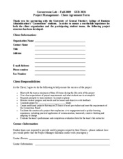Blank Client Agreement Form