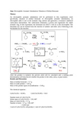 Organic chemistry lab report- Nitration of methyl benzoate