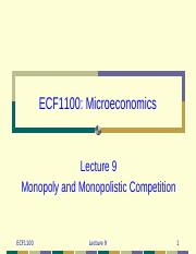 lecture09 Monopoly