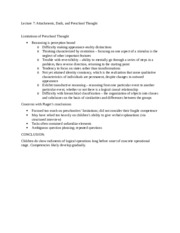 Psychology - Lecture 7 Notes 4