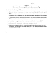 Unit 7 Paper _Determine the necessary information for recommending