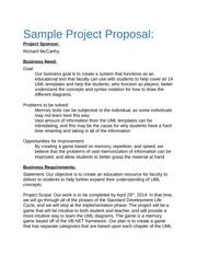 Sample Business Requirements Team Proposal Example