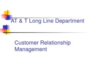 AT & T Long Line Department