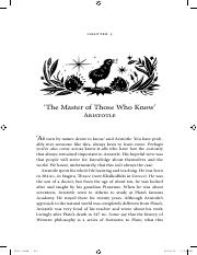 14 Aristotle - The Master of those who know [William_Bynum].pdf
