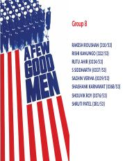 Group 8 A Few Good Men OB v final submitted.pptx