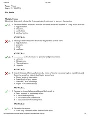 Chapter 3 Test #2 - AP Psychology Unit 3 Biological Bases of