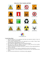 Laboratory Safety Symbols and Rules.doc