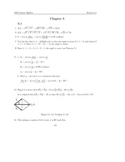 Linear Algebra by otto brestscher chapter 05 solutions