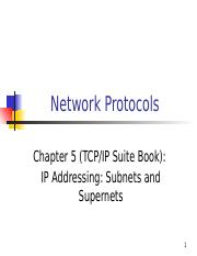 3- IP Addressing, Subnets, and Supernets