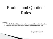 Presentation: Product and Quotient Rules