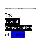 The Law of Conservation of Matter.docx