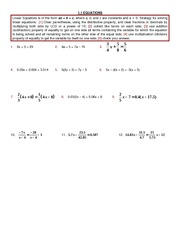 Study Guide on Quadratic Equations
