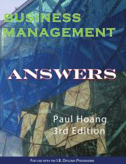 business management paul hoang 3rd edition pdf answers