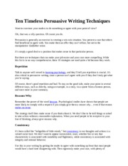 Ten Timeless Persuasive Writing Techniques.docx