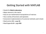 Lecture-01-Getting Started with MATLAB
