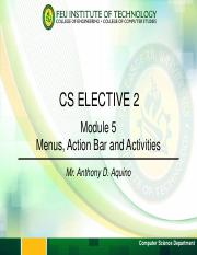Module 5 - Menus Action Bar and Activities