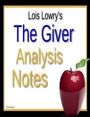 the giver analysis