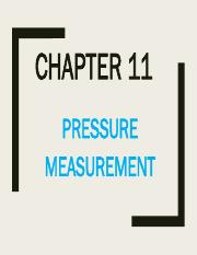 Chapter 11 Pressure Measurement