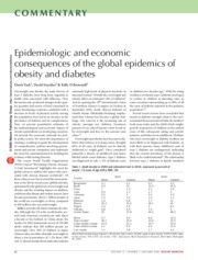 Consequences of the Global Epidemics of Obesity and Diabetes-- Nature Medicine
