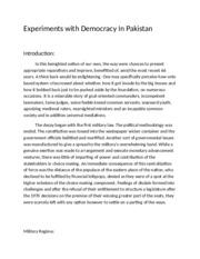 democracy of pakistan an essay