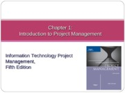 Chapter01 Introduction to Project Management