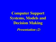 Presentation (2) Systems, Models & DS