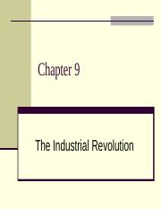 Soci 2000 Chapter 9 The Industrial Revolution(5)