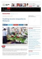 Tackling income inequality in Malaysia - Business News | The Star Online