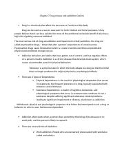Chapter 7 Drug misuse and addiction Outline1