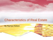 Class 3 Characteristics of Real Estate