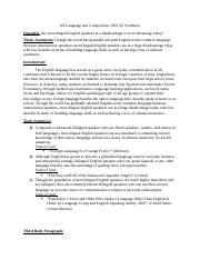 AP Language and Composition 2012 Q1 Synthesis.docx