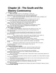 american civilization 2 the south and the slavery controversy