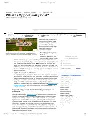 What Is Opportunity Cost_