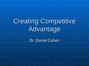 ILRHR4640 Lecture 7- Creating Competitive Advantage