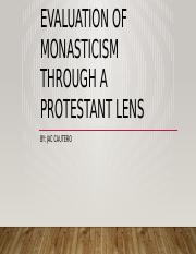 A Few words of evaluation of monasticism Through.pptx
