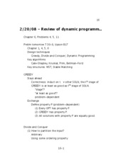 08 - Review of dynamic programming