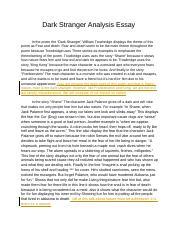 The stranger analysis essay