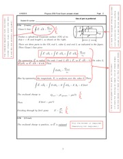 Physics (Spring 2012) written final solutions