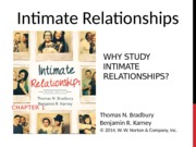 "Chapter 1 ""Why Study Intimate Relationships?"" Class Notes Powerpoint"