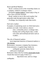 Actuarial 2557B Class Notes Stock and Bond Markets