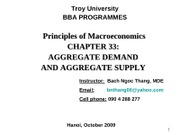 Chap.33_Aggregate Demand and Aggregate Supply