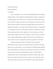 Case #1 Essay International Business