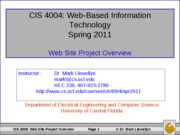 Web Site Project Overview