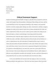 Ethical Statement Support