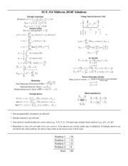 ECE314 Midterm - 2014F - solutions