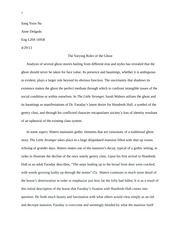 final LS draft essay