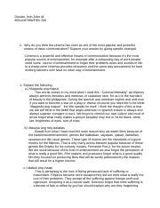 Four values in filipino drama and film essay