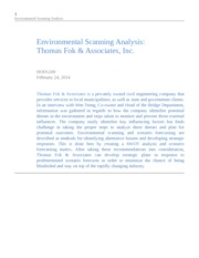 HOD1200 Environmental Scanning Analysis